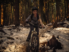 Expresso Slush Slide (kendyck1) Tags: bc mountainbike northshore espresso northvancouver mountainbiking natasha fromme