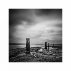 Heirarchy (Lindi m) Tags: longexposure seascape coast rocks northumberland northsea posts whitleybay tynewear oldhartley