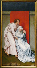 Van der Weyden, The Crucifixion, with the Virgin and Saint John the Evangelist Mourning (left panel)