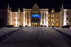 Grand Hotel Saltsjbaden front (http://gullmars.se) Tags: winter snow by architecture night hotel vinter grand sn arkitektur saltsjbaden kvll saltis
