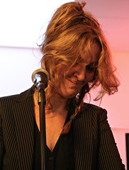 Funky music (hrunge) Tags: portrait woman netherlands availablelight candid redhair portret vrouw bussum jazzsinger candidportraits funkymusic eos6d iso12800 december2015 ©hrunge lens28135mmf3556isusm artweekend2015