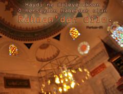 Rahman  (gLySuNfLoWeR) Tags: art architecture islam mosque ottoman rahman cami allah dua skdar furkan dilek osmanl kuran mimarsinan ayet emsipaa islamiyet kukonmazcami