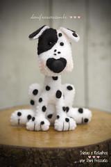 Dlmata de Feltro (Dani_Fressato) Tags: dog handmade artesanato craft felt cachorro feltro patch dlmata trabalhomanual ideiaseretalhos danifressato