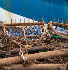 Rust - Weymouth - Macro Lens (dorsetpeach) Tags: blue winter england macro boat rust iron harbour dorset nets fishingboat weymouth weymouthharbour oldharbour
