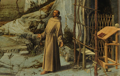 Bellini, Saint Francis in the Desert, detail