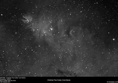 NGC2264 - Christmas Tree Cluster, Cone Nebula (alastair.woodward) Tags: christmas sky blackandwhite cloud abstract black tree texture monochrome night canon stars outside 350d mono photo cone outdoor budget background derbyshire cluster border surreal nebula astrophotography goto pro astronomy lunar derby cfa ngc2264 skywatcher heq5 st80 astrometrydotnet:status=solved qhy5lii 130pds debayered astrometrydotnet:id=nova1432963