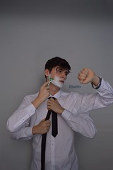 Late for work (ethangeephotography) Tags: november blue portrait man game art beauty photomanipulation self work fun four idea photo crazy amazing cool hands perfect funny hand view awesome watch great creative tie manipulation best illusion shave concept moment ideas razor gilette letsshavenovember