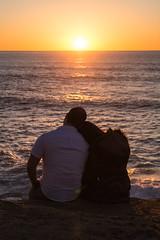 Odila & Ivan (B) (Jorge Ibarra L.) Tags: california sunset portrait usa beach couple sandiego pareja retrato pregnancy playa maternity eua puestadesol seashore sunsetcliffs embarazo maternidad