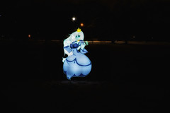 Pixelstick in the Snow (RickDrew) Tags: winter snow lightpainting night pixel stick pixelstick