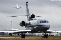 Private Dassault Falcon F9EX C-FIGI (TimSadchikov) Tags: toronto plane private grey airport gray jet overcast falcon spotting pearson yyz dassault trijet planespotting threeholer torontopearsoninternationalairport cyyz 900ex f9ex torontopearsonaviation cfigi