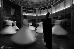 Dervishes / Sema Ceremony (©radicalme) Tags: travel history turkey photography blackwhite istanbul ottoman sema tr lightroom mevlana galatamevlevihanesi