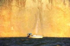 sailing by the cliffs (Hal Halli) Tags: sea boat sailing cliffs dockbay netartii