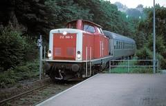 Calw ZOB  1997  212 066 (w. + h. brutzer) Tags: analog train germany deutschland nikon v100 eisenbahn railway zug trains db locomotive 212 lokomotive diesellok eisenbahnen dieselloks webru calwzob
