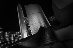 """Just Steps From City Hall"" (itsonlykotsy) Tags: city urban toronto ontario canada building night dark downtown cityhall citylife northamerica futuristic nathanphillipssquare"