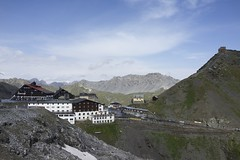 Stelvio Pass (micmol ) Tags: summer italy cloud mountain nature horizontal landscape outdoors landscapes nationalpark day village cloudy outdoor scenic nobody it np fromadistance range sunnyday lombardy stelvio