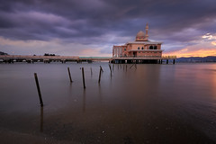 Floating Mosque Under The Floating Clouds (saiful nizal) Tags: longexposure sunset storm clouds colorful outdoor memories floating mosque penang butterworth digitalblending