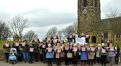 #HANDSOFFHRI (littlestschnauzer) Tags: uk west church st rural hospital demo community village accident yorkshire united protest peaceful save demonstration together nhs unite local february halifax emergency ae michaels 27th closure villagers huddersfield peoplepower emley 2016 calderdale hri kirklees handsoffhri