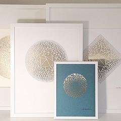 Framed Paper Cuts (all things paper) Tags: geometric triangles papercutting framedpapercuts