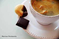 Coffee time (Marina Anisimova) Tags: food cup coffee breakfast design drink sweet chocolate object tasty plate taste pausa
