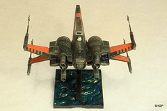 IMG_2128 (harrison-green) Tags: film movie star model fighter force space wing x xwing spaceship wars poe 172 bandai t70 awakens dameron incom