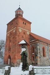 Mielno, Pomorze, Poland (LeszekZadlo) Tags: city winter building tower history church architecture religious temple town europe religion eu poland polska polen historical polonia ue pomerania pommern pologne pomorze