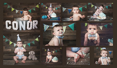 Conor's Cake Smash <3 (Samantha Nicol Art Photography) Tags: birthday boy party portrait art cake scotland smash 1st cupcake messy samantha props bunting ayrshire nicol beith
