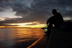 sundowner (Eisgrfin (very busy)) Tags: ocean sunset water silhouette germany meer sonnenuntergang schatten eisgrfin