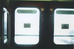 Be Safe and Considerate (Ali Seglins) Tags: city toronto canada film sign youth danger contrast analog train 35mm subway gold publictransportation bright kodak ttc 200 transit safe melancholy canona1 alternative broadviewstation considerate bloorviaduct castlefrankstation aliseglins