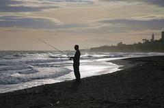 Fisher (`miRim ) Tags: fishing fisherman spain fisher sihouette torrox costatropical