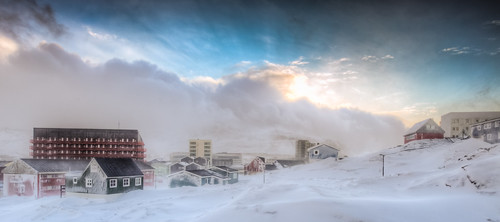 Snow and Sun in Greenland