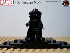 Spiderman Noir (Random_Panda) Tags: film movie lego fig films spiderman super hero figure superhero spidey movies heroes minifig minifigs superheroes marvel figures figs minifigure minifigures figbarf