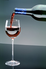Pouring Red Wine into a Glass (Wernher Krutein) Tags: glass bottle wine beverage liquid vintner grapegrower sommalier