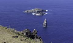 Motu Nui, Motu Iti and Motu Kau Kau (blueheronco) Tags: pacificocean easterisland rapanui isladepascua motunui orongo motuiti motukaukau orongovillage