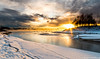 morgenfugl-1 (Odar Gofot) Tags: trees winter sunset sun cold ice water birds norway clouds sunrise river landscape seascpae
