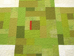 """9 Patch Cross Quilt in Green"" - Detail (BooDilly's) Tags: modern quilt quilting quilted textileart modernquilt contemporaryquilt victoriagertenbach crossquilt"