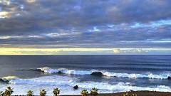 Waves and clouds #1 (suominensde) Tags: ocean sea sky espaa cloud seascape beach water landscape coast seaside spain outdoor horizon wave shore cielo tenerife serene atlanticocean nube puertodelacruz ola horizonte sereno oceanoatlantico d3100