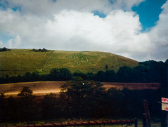 Cerne Abbas Giant (Andy Hay) Tags: holiday man giant chalk picture scanned 1994 hillside abbas cerneabbas lightroom latesummer cerne