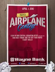 Paper Airplane Contest Logo & Poster Design (Justin Roach Work Stuff) Tags: advertising logo design graphicdesign bank batman scranton nepa brucewayne 570 waynebank