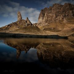 storr bought mirror (SkyeBaggie) Tags: light reflection sunrise canon landscape scotland highland hebrides lochan trotternish oldmanofstorr isleofskyescotland samyang14mm