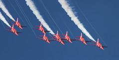 Trails (hanley27) Tags: display loop hawk aircraft jet formation l f56 vapour redarrows canon400mm raflintononouse