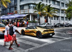 cool ride on ocean drive (Rex Montalban Photography) Tags: florida miami southbeach hdr rexmontalbanphotography