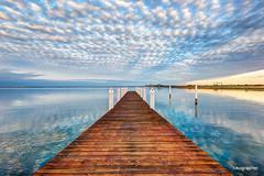 Sunrise @ Chesapeake Bay Bridge (Nikographer [Jon]) Tags: md maryland sunrise 20160312d810033267 hdr mar march 2016 winter bluesky clouds chesapeakebaybridge chesapeake baybridge bay bridge nikographer d810
