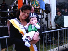 Parade VP Mary Frances Fogg and grandson, Ryan