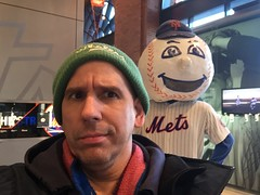 Ever get the feeling somebody is watching you ??? (Hazboy) Tags: new york ny game me sports field sport team mr baseball mascot queens april mister mets citi 2016 hazboy hazboy1