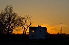 Abandoned House (ramseybuckeye) Tags: life sunset ohio sky house art abandoned rural golden glow pentax