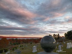 Capt. Albert Vinyl Partridge (Diana Lynn2) Tags: sunset history cemetery globe maine cenotaph seacaptain sandypoint beautifulviews
