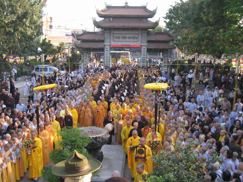 Lễ Vu lan tại chùa Vĩnh Nghiêm