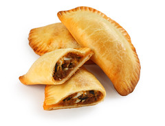 empanadas, meat pie on white background (memory123451234) Tags: food argentina japan cuisine dish beef mexican whitebackground spanish snack appetizer portuguese baked empanadas empanada meatpie latinamerican