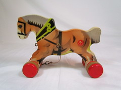 1950s Gecevo Horse (Brickadier General) Tags: wood horse animal vintage toy toys pull wooden lego antique german 1950s ddr holz spielzeug holzspielzeug visso not verhofa gecevo