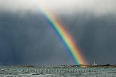 Phare de l'ile de Batz - happy Easter! (http://arnaudballay.wix.com/photographie) Tags: sea storm beach easter rainbow brittany wave roscoff bretagne atlantic phare arcenciel tempete batz ligthouse iledebatz santec